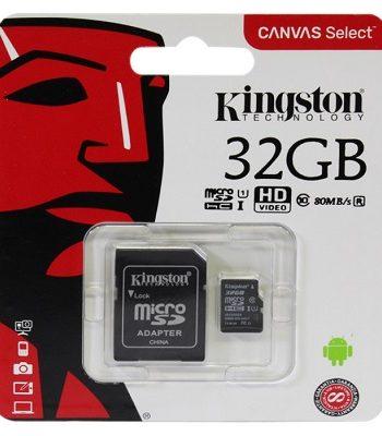 MICRO SD HC 32GB, 80MB/s, KINGSTON