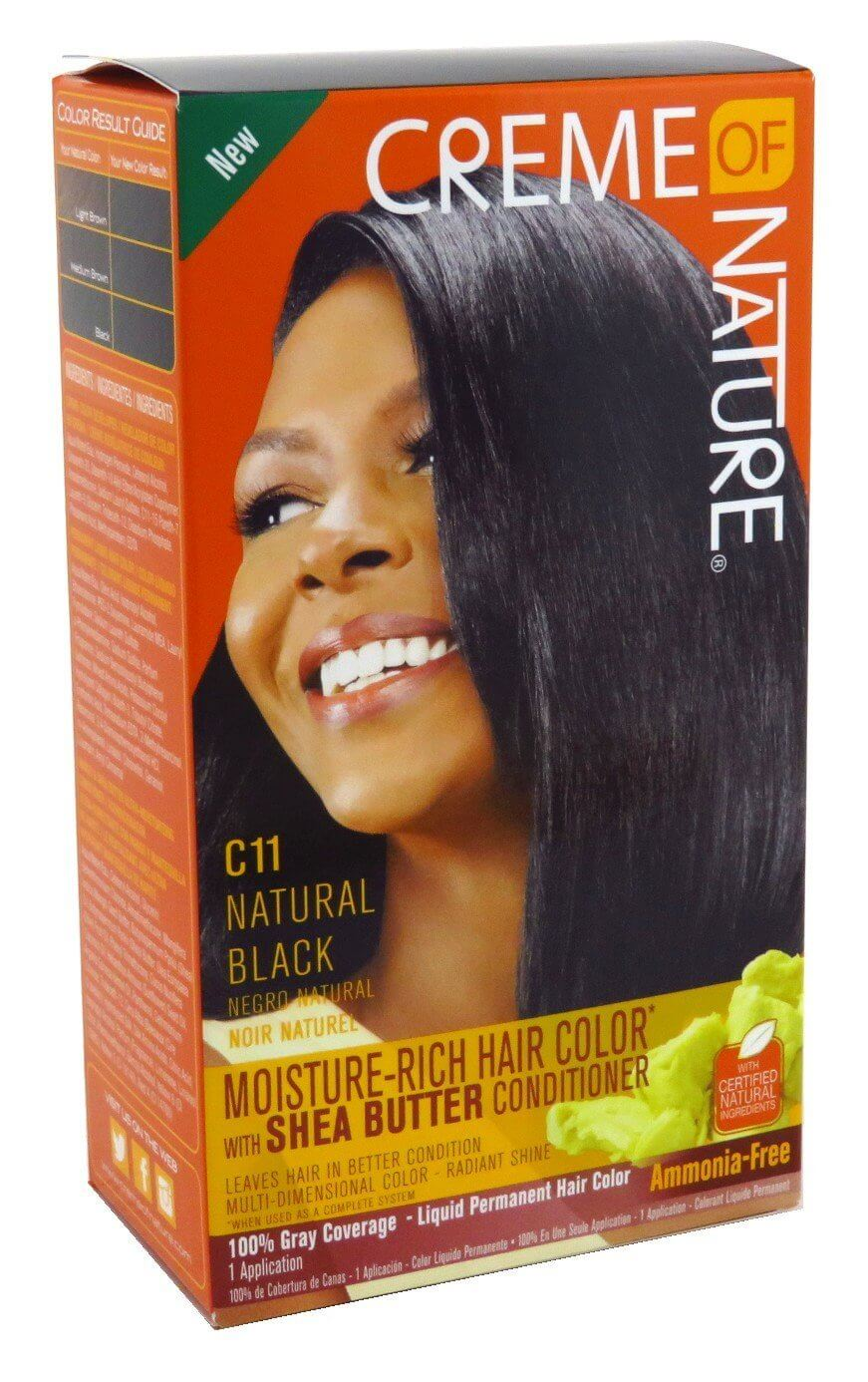 Creme Of Nature C11 Natural Black Moisture Rich Hair Color With