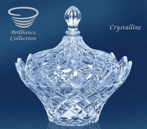 GLS205, PLAT, BOL AVEC COUVERCLE, CRYSTALLINE, BRILLIANCE COLLECTION