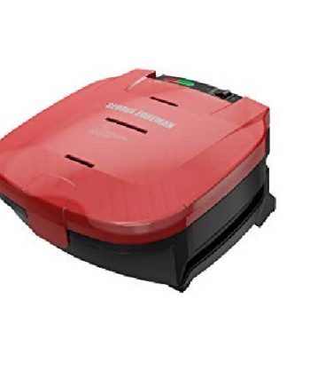 GR1036BTRC, GEORGE FOREMAN, GRIL, GRILLE-PAIN, 2 PORTIONS, ROUGE, 870 WATTS