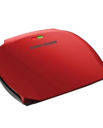 GEORGE FOREMAN, GRIL 2-EN-1, GRILLE-PANINI, 5 PORTIONS, ROUGE, 1200 WATTS, GR2080RC