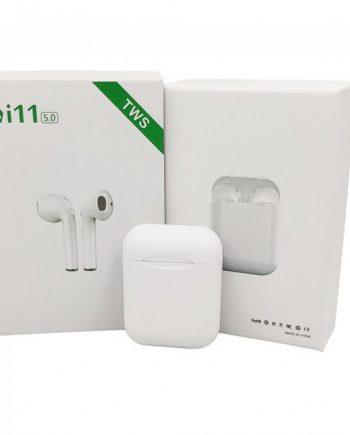 i11 TWS, BLUETOOTH EARPHONE, HEADSET, WIRELESS, MICROPHONE, WHITE,