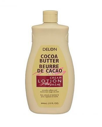 DELON - COCOA BUTTER CREAM LOTION, SMOOTHS, SOFTENS & MOISTURIZES ROUGH, DRY SKIN, 15 FL.OZ/444 ML