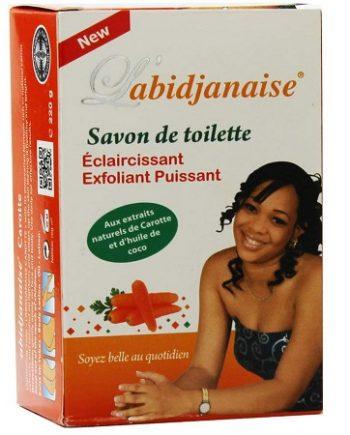 L'ABIDJANAISE SAVON DE TOILETTE ÉCLAIRCISSANT EXFOLIANT PUISSANT, 250 G 6181100420098