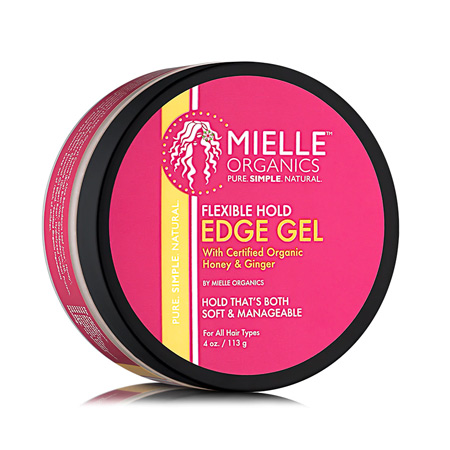 MIELLE ORGANICS, FLEXIBLE HOLD EDGE GEL, HONEY GINGER, 4 OZ 113 G, 854102006213