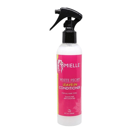 MIELLE ORGANICS WHITE PEONY LEAVE-IN CONDITIONER FOR ALL HAIR TYPES, 8 FL.OZ 240 ML, 854102006190