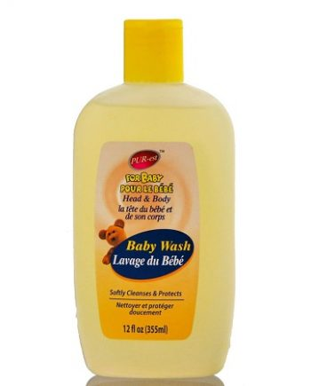 PUR-EST: HEAD & BODY BABY WASH, SOFTLY CLEANSES & PROTECTS, 12 FL.OZ / 355 ML