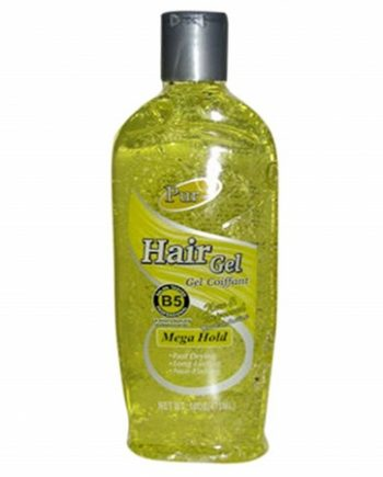 PUR-EST: HAIR GEL MEGA HOLD (GEL COIFFANT) FAST DRYING, LONG LASTING, NON-FLAKING, SALON TESTED B5 PROFESSIONAL, 16 OZ/473 ML, 806712305842