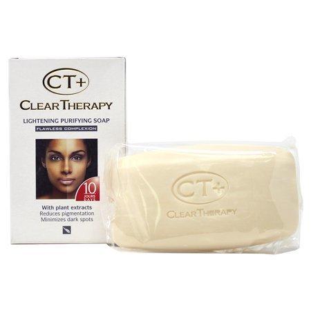 CT+ CLEAR THERAPY - SAVON CLARIFIANT PURETÉ, TEINT ZERO DEFAUT, AUX EXTRAITS VÉGÉTAUX & ANTI-TACHES, 10 JOURS, 175 G
