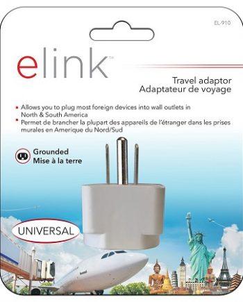 ADAPTATEUR UNIVERSEL POUR AMÉRIQUE DU NORD / SUD, EL-910 ELINK