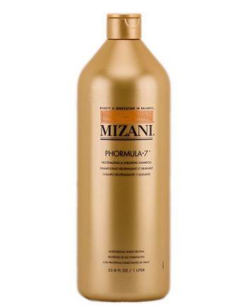 MIZANI - PHORMULA 7 NEUTRALIZING & CHELATING SHAMPOO, MOISTURIZING WHEAT PROTEIN (SHAMPOOING NEUTRALISANT ET DRAINANT, PROTÉINES DE BLÉ HYDRATANTES), 33.8 FL. OZ / 1 LITER