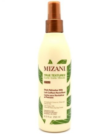 MIZANI TRUE TEXTURES - STYLE REFRESHER MILK INFUSED WITH COCONUT, OLIVE & MARULA OILS (LAIT COIFFANT REVIVIFIANT), 8.5 FL.OZ / 250 ML