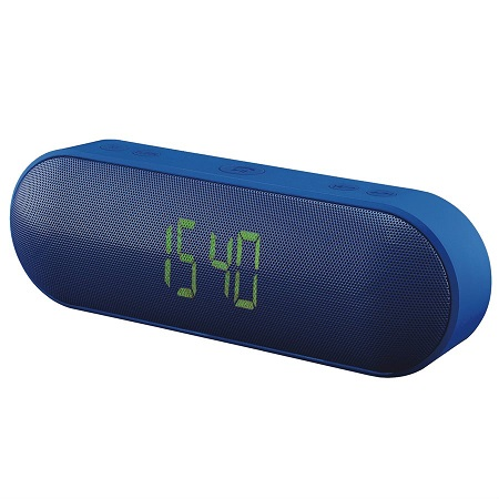 ESCAPE - WIRELESS STEREO SPEAKER WITH FM CLOCK RADIO AND MICROPHONE, SPBT005