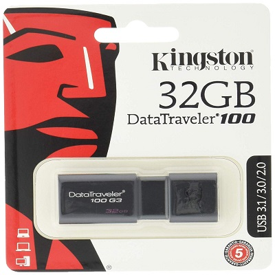 CLEF USB 2.0/3.0/3.1, DATATRAVELER 100 G3, 32 GB KINGSTON