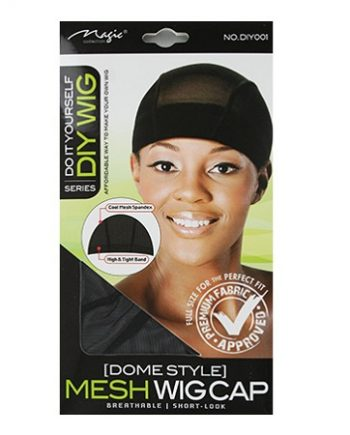 MESH DOME CAP BLACK SHORT-LOOK, BREATHABLE, DIY001, 636227130413