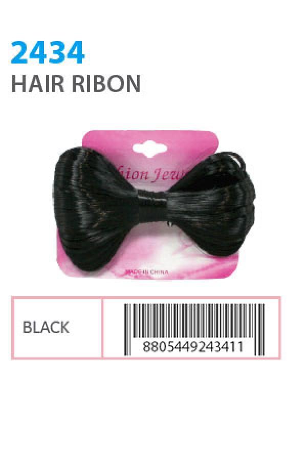 FASHION JEWELRY - HAIR RIBON STONE BLACK, ITEM NO. 2434