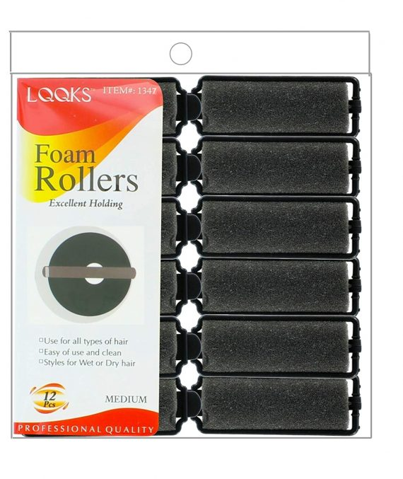 LQQKS - PAQ. OF 12 FOAM ROLLERS EXCELLENT HOLDING MEDIUM, PROFESSIONAL QUALITY, ITEM NO. 1347
