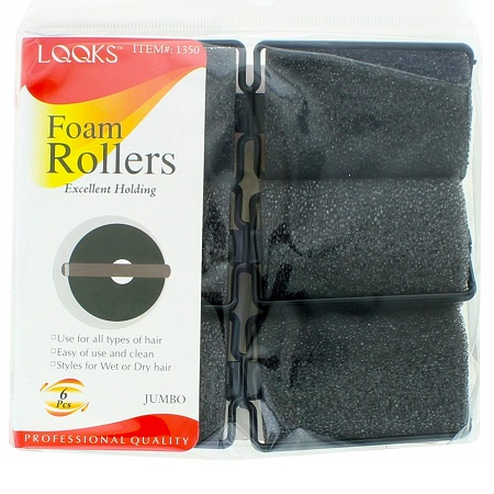 LQQKS - PAQ. OF 6 FOAM ROLLERS EXCELLENT HOLDING JUMBO, PROFESSIONAL QUALITY, ITEM NO. 1350
