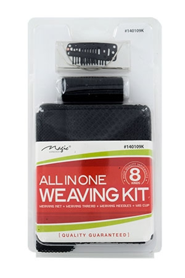 MAGIC COLLECTION - ALL IN ONE WEAVING KIT: WEAVING NET + WEAVING THREAD + WEAVING NEEDLES + WIG CLIP, QUALITY GUARANTEED, ITEM NO. 140109K