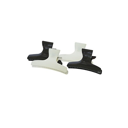 BUTTERFLY CLAMP (M) #CL2202 BLACK & WHITE, PAQ. OF 12 PCs, ITEM NO. 1084