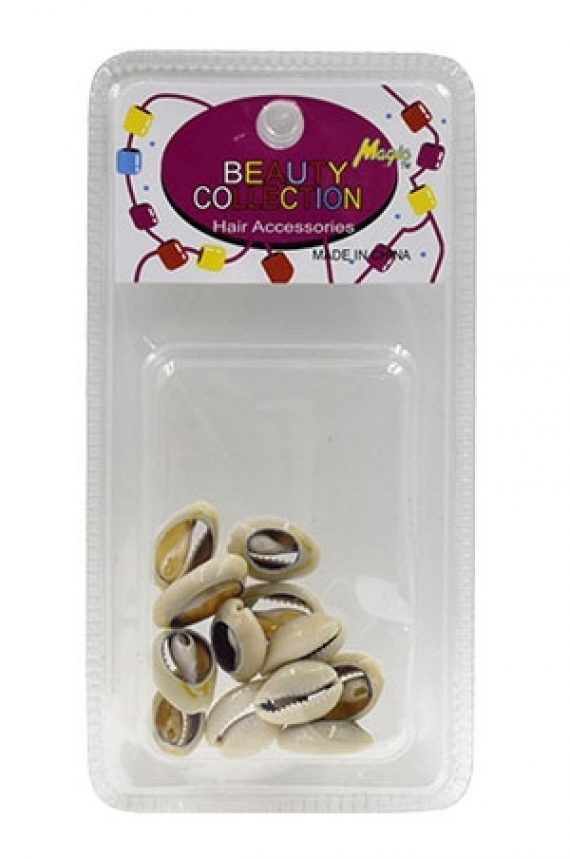 MAGIC GOLD - PAQ. OF 16 SHELL BEADS (PERLES COQUILLAGES) SMALL, BEAUTY COLLECTION HAIR ACCESSORIES, ITEM NO. 12532