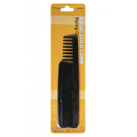 MAGIC GOLD - PAQ. OF 2 STYLING COMB 7 1/4'', BEST QUALITY, ITEM NO. 2434