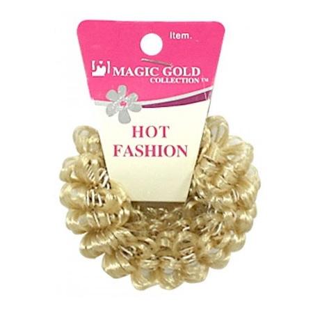 MAGIC GOLD - HOT FASHION HAIR BAND BEIGE, ITEM NO. 2439BG