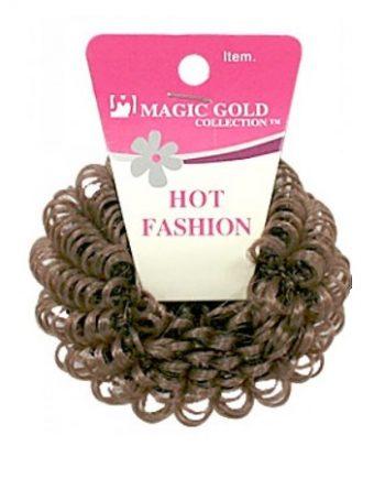 MAGIC GOLD - HOT FASHION HAIR BAND BROWN, ITEM NO. 2439BR