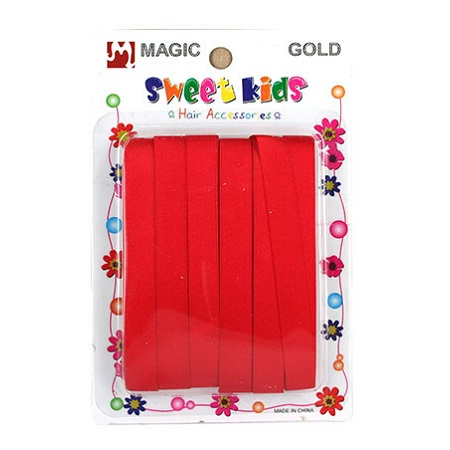 MAGIC GOLD - RIBBON RED, SWEET KIDS HAIR ACCESSORIES, ITEM NO. 5059RD