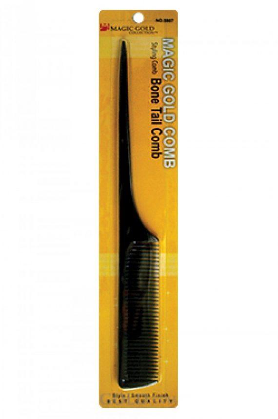 MAGIC GOLD - BONE TAIL COMB BLACK (PEIGNE QUEUE OSSEUSSE NOIR), ITEM NO. 5807