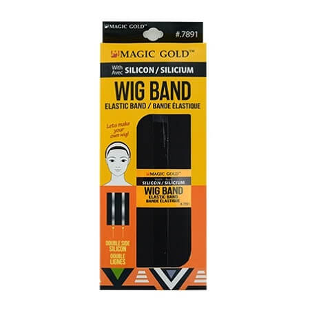 MAGIC GOLD - WIG BAND WITH SILICON BLACK ELASTIC BAND (BANDE ÉLASTIQUE) DOUBLE SIDE SILICON, ITEM NO. 7891