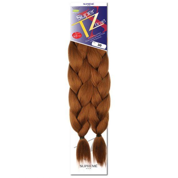 SUPRÊME HAIR - PAQ. DE 2 SUPER X TZ BRAID (CHEVEUX TRESSÉS) 48'' INCHES, 100% KANEKALON MODACRYLIC FIBER, SYNTHETIC HAIR, COLOR 30
