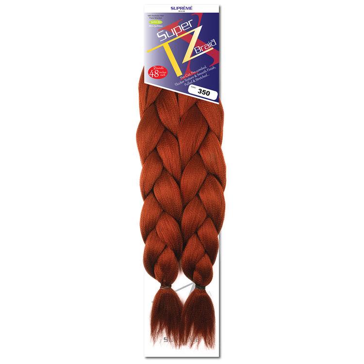 SUPRÊME HAIR - PAQ. DE 2 SUPER X TZ BRAID (CHEVEUX TRESSÉS) 48'' INCHES, 100% KANEKALON MODACRYLIC FIBER, SYNTHETIC HAIR, COLOR 350