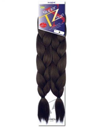 SUPRÊME HAIR - PAQ. DE 2 SUPER X TZ BRAID (CHEVEUX TRESSÉS) 48'' INCHES, 100% KANEKALON MODACRYLIC FIBER, SYNTHETIC HAIR, COLOR 4