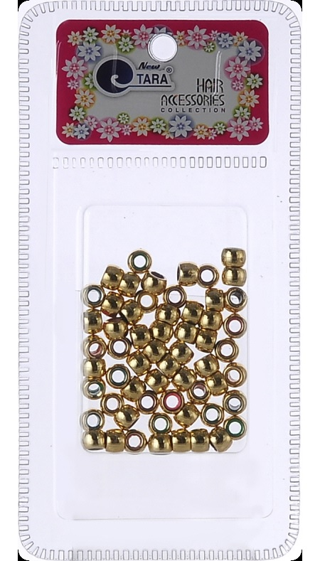 NEW TARA - BEAD (PERLE) GOLD TONE SMALL, HAIR ACCESSORIES COLLECTION, ITEM NO. ZQ72303