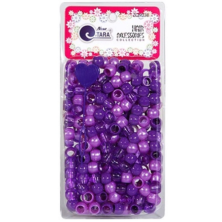 NEW TARA - BEAD (PERLES) PURPLE TONE, LARGE PACK, HAIR ACCESSORIES COLLECTION, ITEM NO. ZQ9038