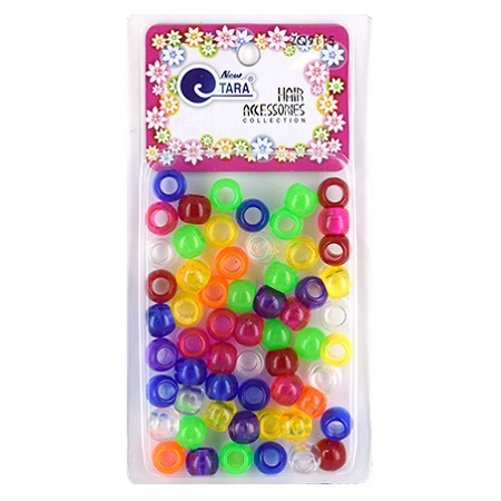 NEW TARA - BEADS (PERLES) ASSORTIES COLORS CRYSTAL LARGE MIX, HAIR ACCESSORIES COLLECTION, ITEM NO. ZQ9115