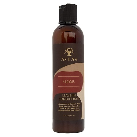 AS I AM - CLASSIC LEAVE-IN CONDITIONER, KEEPS TANGLES AWAY AND PROVIDES A GREAT FOUNDATION FOR NATURAL STYLING, 237 ML / 8 FL.OZ