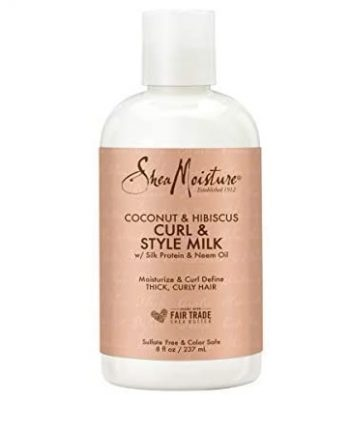 SHEA MOISTURE - COCONUT & HIBISCUS CURL & STYLE MILK WITH SILK PROTEIN & NEEM OIL, 8 FL.OZ/237 ML