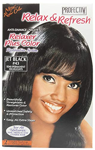 Relaxer plus color Jet black