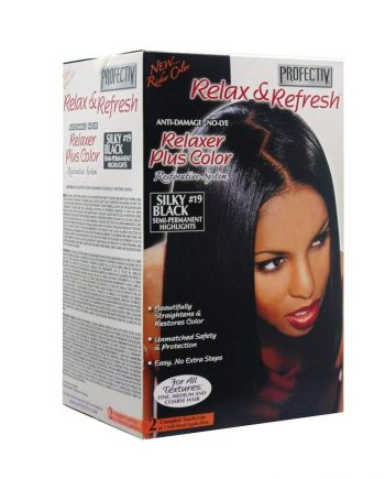 Relaxer plus color Silky Black