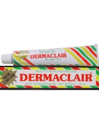 DERMACLAIR - BEAUTY CREAM FOR DARK SKIN WITH HYDROQUINONE (CRÈME DE BEAUTÉ POUR PEAUX FONCÉES À L'HYDROQUINONE), 50 G